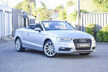2015 Audi A3 8V MY16 Ambition S tronic quattro Silver 6 Speed Sports Automatic Dual Clutch Cabriolet