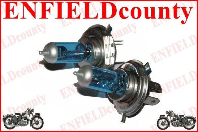 MOTORCYCLE SCOOTER H4 PX43T 12V-35/35W SUPER WHITE HALOGEN HEADLIGHT BULB 2 @UK