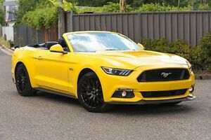 2015 Ford Mustang FM GT SelectShift Yellow 6 Speed Sports Automatic Convertible Greenacre Bankstown Area Preview
