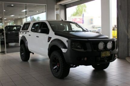 2013 Ford Ranger PX XL 3.2 (4x4) White 6 Speed Manual Dual Cab Utility Thornleigh Hornsby Area Preview
