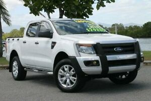 2012 Ford Ranger PX XL Double Cab White 6 Speed Sports Automatic Utility Bungalow Cairns City Preview