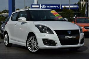 2013 Suzuki Swift FZ Sport White 7 Speed Constant Variable Hatchback Penrith Penrith Area Preview