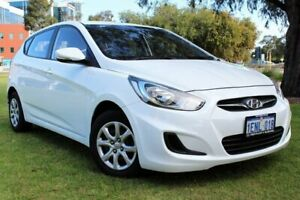2014 Hyundai Accent RB2 MY15 Active White 4 Speed Sports Automatic Hatchback Victoria Park Victoria Park Area Preview