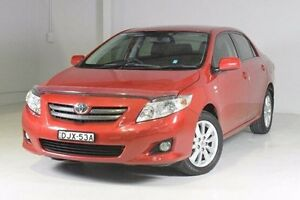 2009 Toyota Corolla ZRE152R Ultima Red 4 Speed Automatic Sedan Wadalba Wyong Area Preview