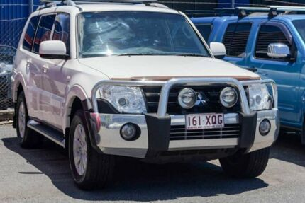 2009 Mitsubishi Pajero NT MY09 Platinum Edition White 5 Speed Sports Automatic Wagon