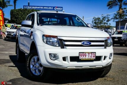 2014 Ford Ranger PX XLS Double Cab White 6 Speed Sports Automatic Utility Archerfield Brisbane South West Preview