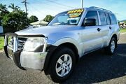 2008 Mitsubishi Pajero NS GLX LWB (4x4) Silver 5 Speed Manual Wagon Bungalow Cairns City Preview