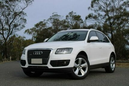 2011 Audi Q5 8R MY12 TDI S Tronic Quattro White 7 Speed Sports Automatic Dual Clutch Wagon Glebe Hobart City Preview