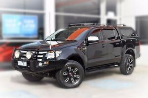 2013 Ford Ranger PX XLS Double Cab Black 6 Speed Manual Utility Berwick Casey Area Preview