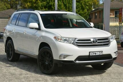 2013 Toyota Kluger GSU40R MY12 Altitude (FWD) 7 Seat Crystal Pearl 5 Speed Automatic Wagon Wyoming Gosford Area Preview