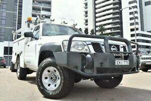 2011 Nissan Patrol GU 6 MY10 DX Cab Chassis Single Cab 2dr Man 5sp 4x4 1153kg 3 White Manual