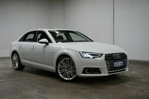 2017 Audi A4 B9 8W MY18 S Line S Tronic Quattro White 7 Speed Sports Automatic Dual Clutch Sedan Welshpool Canning Area Preview