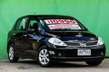 2007 Nissan Tiida C11 MY07 Q Black 4 Speed Automatic Hatchback Ringwood East Maroondah Area Preview