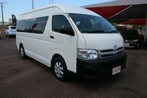 2012 Toyota HiAce KDH223R MY12 Commuter High Roof Super LWB French Vanilla 4 Speed Automatic Bus