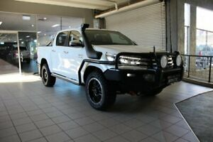 2015 Toyota Hilux GUN126R SR5 (4x4) Glacier White 6 Speed Automatic Dual Cab Utility Thornleigh Hornsby Area Preview
