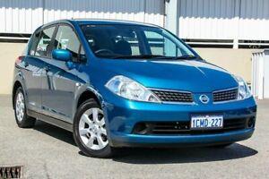 2007 Nissan Tiida C11 MY07 ST-L Blue 4 Speed Automatic Hatchback