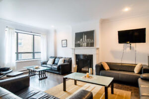 Modern Furnished Room in a Shared Condo - Downtown Montreal