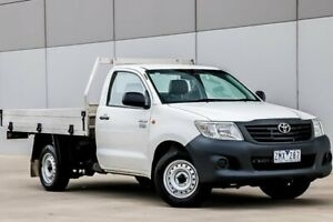 2012 Toyota Hilux TGN16R Workmate White Manual Pakenham Cardinia Area Preview