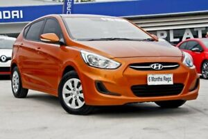 2014 Hyundai Accent RB2 Active Orange 4 Speed Sports Automatic Hatchback