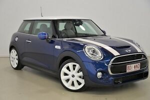 2014 Mini Hatch F56 Cooper S Blue 6 Speed Automatic Hatchback Mansfield Brisbane South East Preview