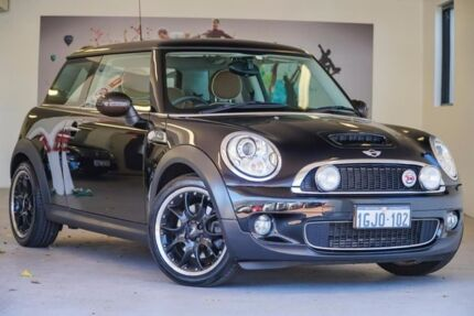 2010 Mini Hatch R56 MY10 Cooper S Mayfair Black 6 Speed Manual Hatchback Willagee Melville Area Preview