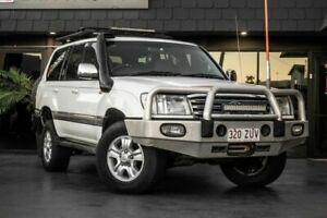 2004 Toyota Landcruiser HDJ100R Sahara White 5 Speed Automatic Wagon Bowen Hills Brisbane North East Preview