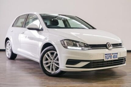 2017 Volkswagen Golf 7.5 MY17 110TSI DSG Trendline White 7 Speed Sports Automatic Dual Clutch Myaree Melville Area Preview