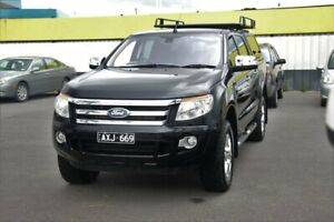 2012 Ford Ranger PX XLT Double Cab Black 6 Speed Sports Automatic Utility Cheltenham Kingston Area Preview