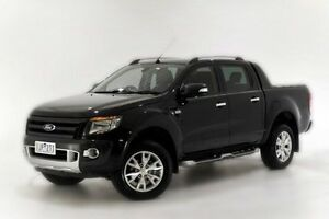 2014 Ford Ranger PX Wildtrak Double Cab Black 6 Speed Sports Automatic Utility Narre Warren Casey Area Preview
