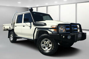 2017 Toyota Landcruiser LC70 VDJ79R MY17 GXL (4x4) French Vanilla 5 Speed Manual Double Cab Chassis Dalby Dalby Area Preview