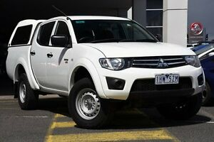 2012 Mitsubishi Triton MN MY12 GLX Double Cab Solid White 5 Speed Manual Utility Mornington Mornington Peninsula Preview