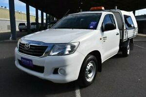 2011 Toyota Hilux GGN15R MY12 SR Glacier White 5 Speed Automatic X Cab Pickup