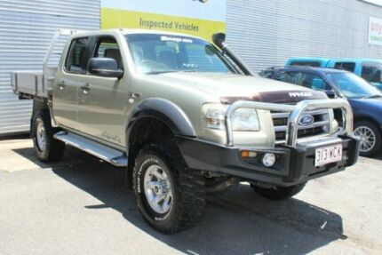 2007 Ford Ranger PJ XL Crew Cab Gold 5 Speed Manual Cab Chassis
