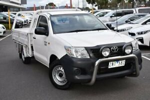 2012 Toyota Hilux TGN16R MY12 Workmate 4x2 White 5 Speed Manual Cab Chassis Mill Park Whittlesea Area Preview
