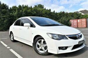 2010 Honda Civic 8th Gen MY10 Limited Edition Taffeta White 5 Speed Manual Sedan Five Dock Canada Bay Area Preview