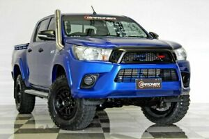 2016 Toyota Hilux GUN125R Workmate (4x4) Blue 6 Speed Automatic Dual Cab Utility Burleigh Heads Gold Coast South Preview