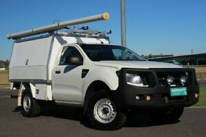 2015 Ford Ranger PX XL White 6 Speed Manual Cab Chassis Officer Cardinia Area Preview