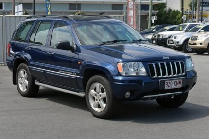 2005 Jeep Grand Cherokee WG MY2004 Overland Blue 5 Speed Automatic Wagon