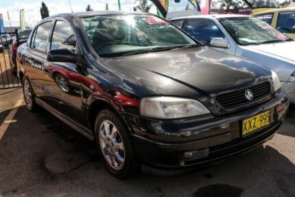 2002 Holden Astra TS City Black 4 Speed Automatic Sedan Colyton Penrith Area Preview