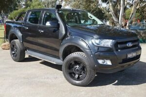 2015 Ford Ranger PX XLT Double Cab Black 6 Speed Sports Automatic Utility Brighton Bayside Area Preview
