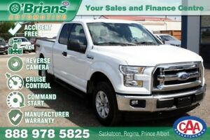 2017 Ford F-150 XLT - Accident Free! w/Mfg Warranty, 4x4, Comman