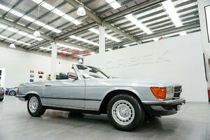 1983 Mercedes-Benz 380 SL Silver Blue 4 Speed Automatic Convertible Port Melbourne Port Phillip Preview