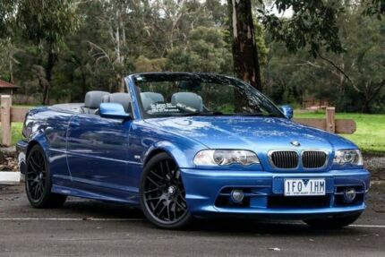2001 BMW 330CI E46 Steptronic Blue 5 Speed Auto Steptronic Convertible Ringwood East Maroondah Area Preview