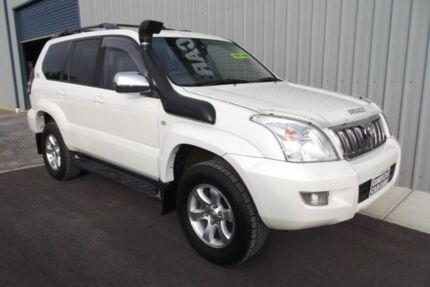 2003 Toyota Landcruiser Prado KZJ120R Grande (4x4) White Pearl 4 Speed Automatic Wagon