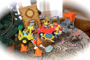 Lego Disney / Chantier construction Manny + panier/ 35 mcx / 15$