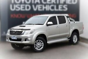 2014 Toyota Hilux KUN26R MY14 SR5 Double Cab Silver 5 Speed Automatic Utility Berwick Casey Area Preview