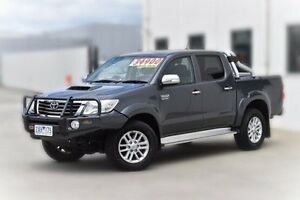 2012 Toyota Hilux KUN26R MY12 SR5 Double Cab Grey 4 Speed Automatic Utility Pakenham Cardinia Area Preview