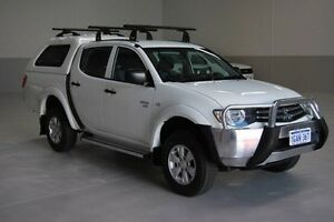 2010 Mitsubishi Triton MN MY10 GL-R Double Cab White 4 Speed Automatic Utility Kenwick Gosnells Area Preview