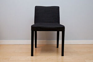 Ikea Nils chairs (2 available) in black brown with grey seats