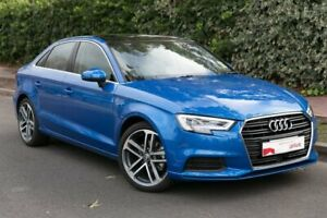 2018 Audi A3 8V MY19 35 TFSI S Tronic Blue 7 Speed Sports Automatic Dual Clutch Sedan Parkside Unley Area Preview